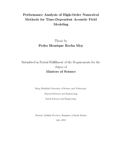 Performance Analysis of High-Order Numerical Methods for