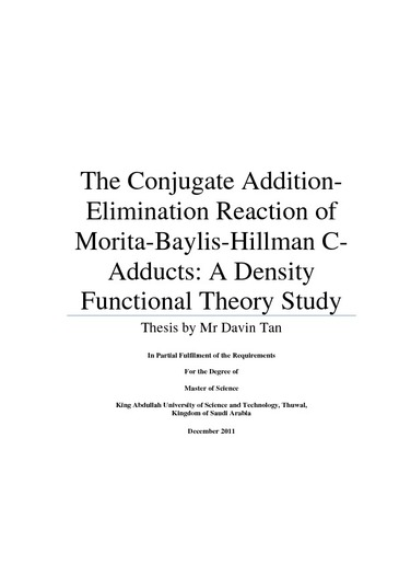 The Conjugate Addition- Elimination Reaction of Morita