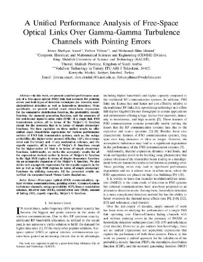 A Unified Performance Analysis of Free-Space Optical Links over