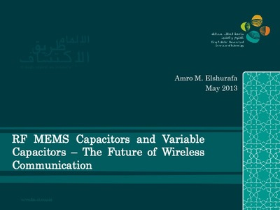 Rf Mems Capacitors And Variable Capacitors The Future Of Wireless Communication