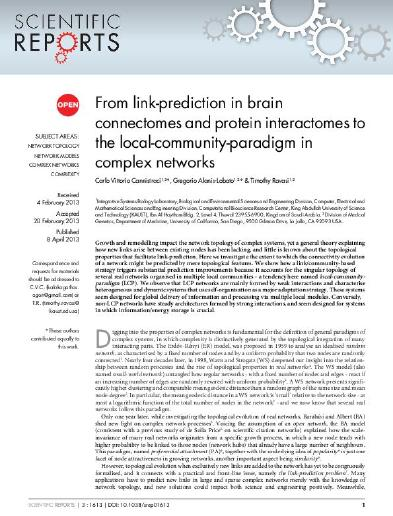 From link-prediction in brain connectomes and protein