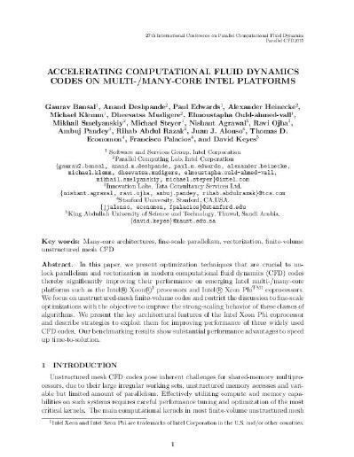 ACCELERATING COMPUTATIONAL FLUID DYNAMICS CODES ON MULTI