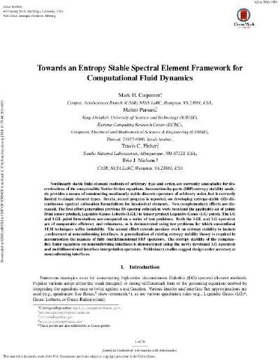 Towards an Entropy Stable Spectral Element Framework for