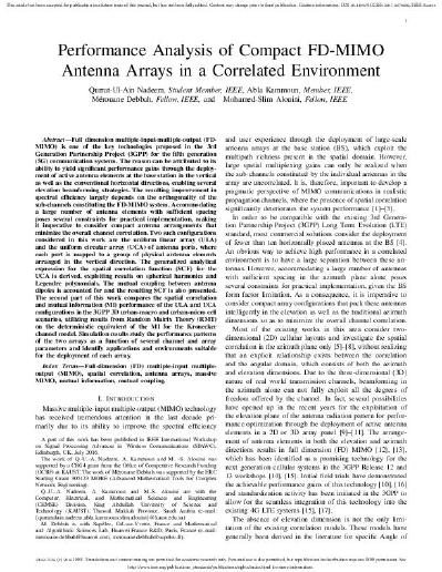 Performance Analysis of Compact FD-MIMO Antenna Arrays in a