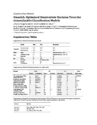 OmniGA: Optimized Omnivariate Decision Trees for