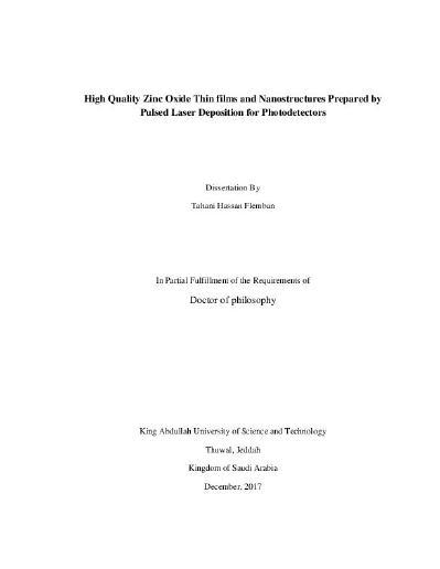 Phd thesis dissertation zno