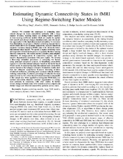Estimating Dynamic Connectivity States in fMRI Using Regime