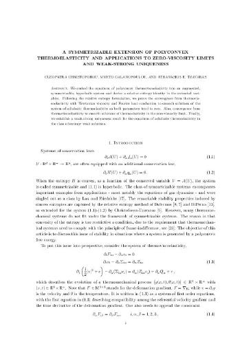 A symmetrizable extension of polyconvex thermoelasticity and