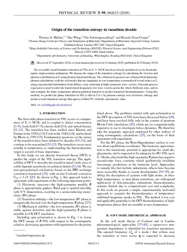 Origin of the transition entropy in vanadium dioxide