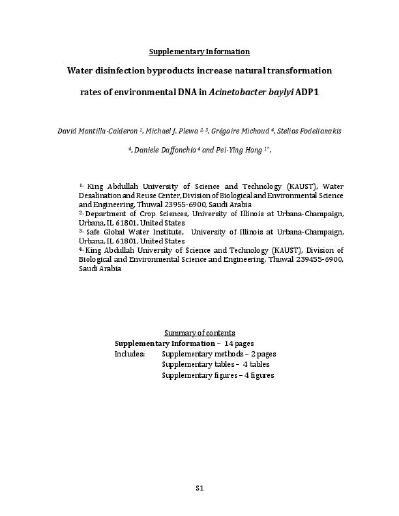 Water Disinfection Byproducts Increase Natural Transformation Rates